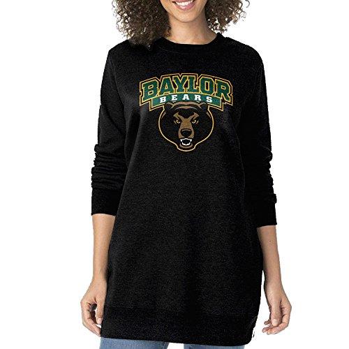 [AOA Cool Baylor University State Texas Women's Round Collar Long Hoodies XL Black] (Nerf Boy Costume)