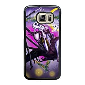 Grouden R Create and Design Phone Case,Nightmare Before Christmas Jack And Sally Cell Phone Case for Samsung Galaxy S6 Edge Black + 1*Touch Stylus Pen (Free) GHL-2865112