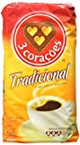 3 Coracoes Tradicional Brazilian Ground Coffee Vacuum Packed 500 grams (Pack of 4)