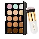 Generic Pro 15 Colors Contour Face Cream Makeup Concealer Palette With Powder 54003134MG