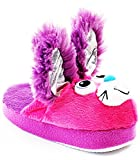 Stompeez Bunny Slippers With Personality! Purple / Pink, Large Size 2.5-6