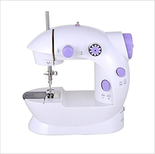 GYMNLJY Máquinas de coser de mesa pequeña conveniente máquinas de coser eléctricas para uso doméstico portátil de Mini micro-mini máquina de coser: ...