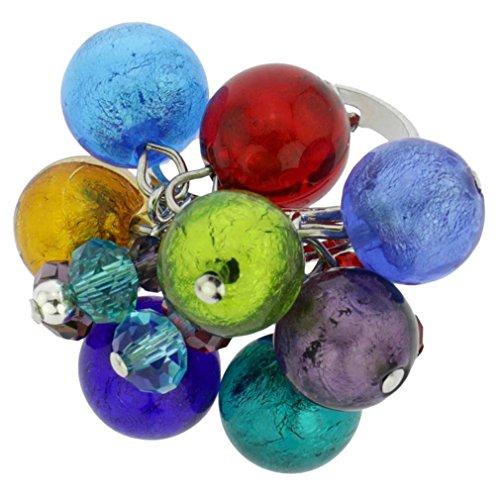 Multi Color Murano Glass Ring - GlassOfVenice Murano Glass Sorgente Ring - Multicolor