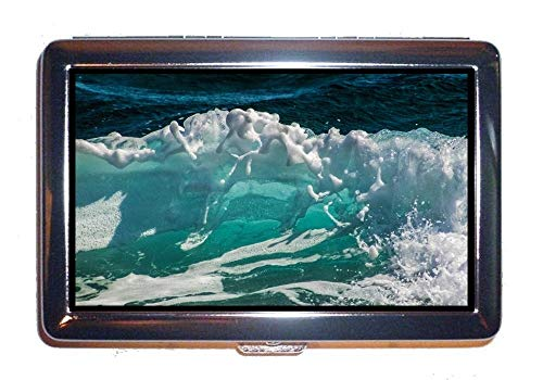 Wallet or Cigarette Case,Beach Ocean sea,Protection Credit Business Card Holder Case