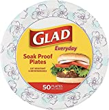 """Round Disposable Paper Plates 10 in, Microwave Safe Heavy Duty Paper Plates 10""""