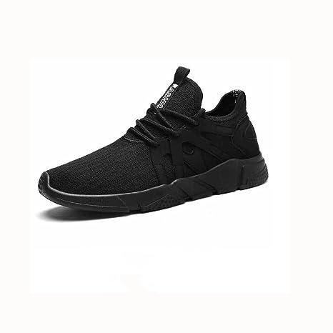 Zapatos YIXINY Deporte Tendencia Calzado De Hombre Ocio Deportes Zapatillas De Correr Transpirable Salvaje Negro Aire