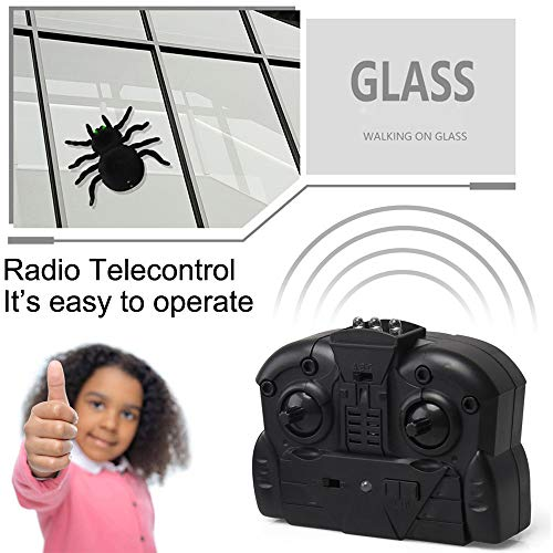 Insaneness Xmas Toys RC Wall Climbing Spider Simulation Joke Scary Trick Scared Electronic Spider Toy (A)