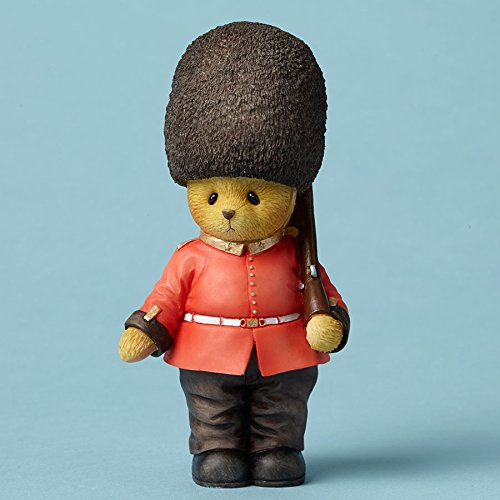 Enesco Cherished Teddies Collection Bear Wearing a British Guard Figurine, 4.5
