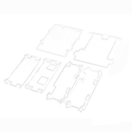 Clara Carcasa Caja de Acrílico para Arduino UNO R3
