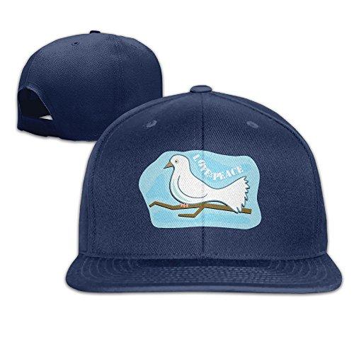 custom-baseball-hat-love-and-peacepigeon-adjustable-light-baseball-menwomen