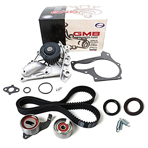 NEW TCK199WP-1 (163 TEETH) Timing Belt Kit (w/ Tensiner Springs & Oil Seals) & Water Pump Set for 87-01 Toyota 2.0L & 2.2L DOHC