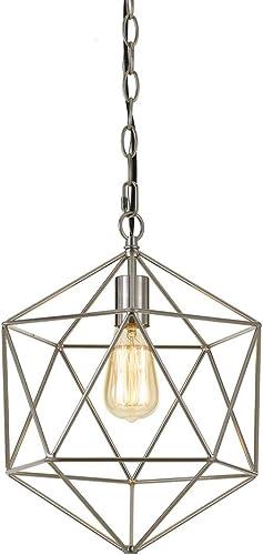 AF Lighting Elements Bellini 1-Light Modern Brushed Nickel Mini Chandelier