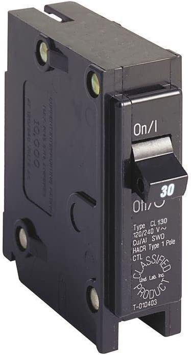 EATON CUTLER HAMMER CL130 30 AMP SINGLE POLE CIRCUIT BREAKER 120//240V NEW NO BOX