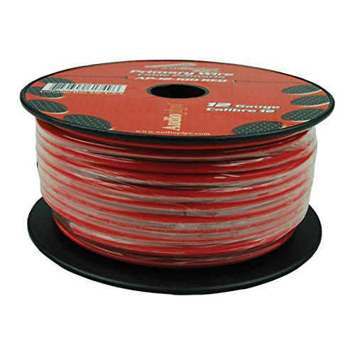 Nippon audiopipe 12 gauge 500ft primary wire red
