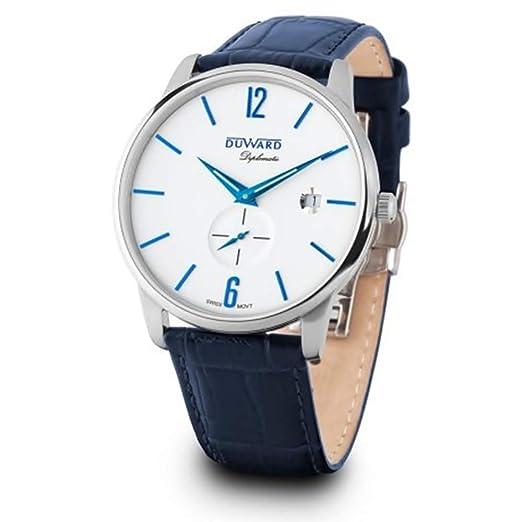DUWARD Reloj para Hombre Analógico Cuarzo Suizo con Correa de Piel de Vaca D85601.05: Amazon.es: Relojes