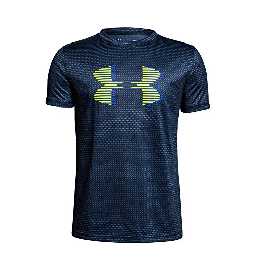 Under Armour Boys' Tech Big Logo Printed T-Shirt, Academy (408)/Mediterranean, Youth X-Large