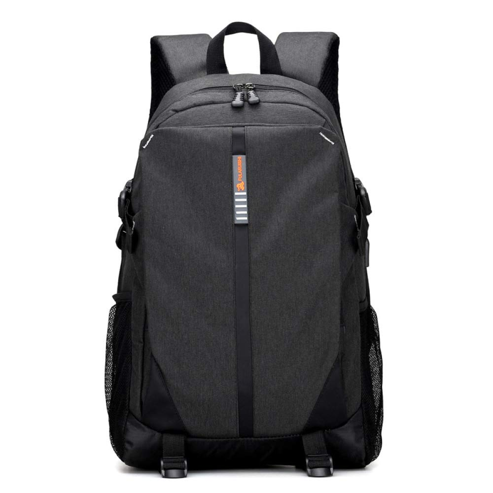 Black One Size Laptop Backpack, Business Computer Bag Waterproof For Men Women With USB Charging Port Fits 15.6 Inch Laptop Large Capacity Backpacks