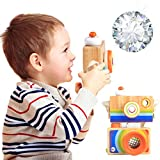 NEEDRA Rotating Kaleidoscope, Rotation Fancy World My First Camera Autism Pretending Kid Toy Baby Toy Kids Lens New Red (A)