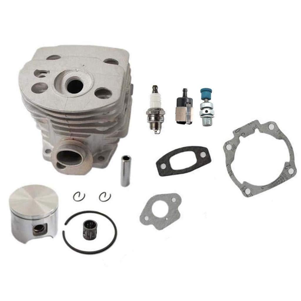 HURI 46mm Cylinder Gasket Fuel Filter Piston Spark Plug Descompression Valve for Husqvarna 55 51 Chainsaw