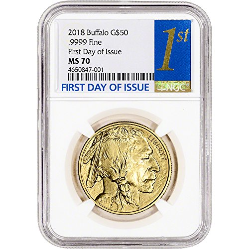 (2018 American Gold Buffalo (1 oz) First Day Issue 1st Label $50 MS70 NGC)