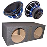 2) POWER ACOUSTIK MOFO-124X 12' 5400 Car Subwoofers Woofers MOFO124X+ Subs Box