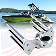 """Tengchang Bat Angle Mount Wakeboard Combo Tower Rack Holder Fit for 1.3""""-2.5"""" Towers Bar with Three"""
