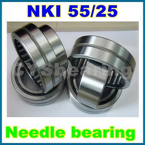 Fevas 4pcs / lot 55x72x25mm 557225mm NKI55/25 Needle Bearing with Inner Ring ()