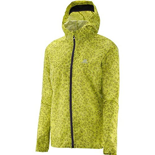 Salomon Fast Wing Graphic Hoodie - Women's Yuzu Yellow Small