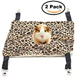Small Pet Animal Hamster Hammock for Cage,House Hanging Bed Cage Toys for Mice Rats Ferret Chinchilla (Leopard Print)