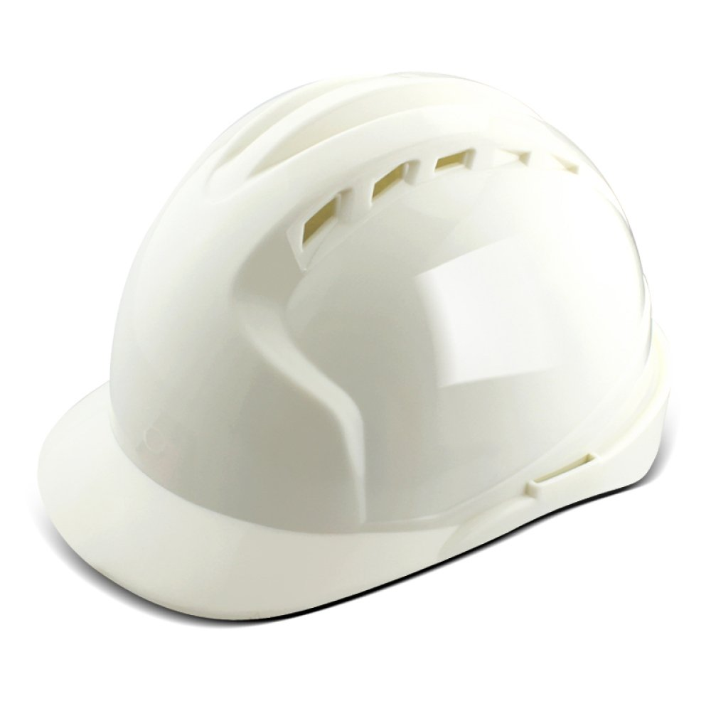ANHPI Hard Hat with Fan Lightweight Ventilated Breathable Sweatproof Construction Worker Safety Helmet Work Safety Equipment,White(w)-L28.5cmW22cmH17cm