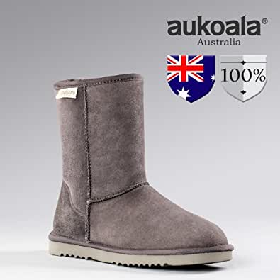 Amazon.com | Aukoala Australia Men Boots Sheepskin Classic
