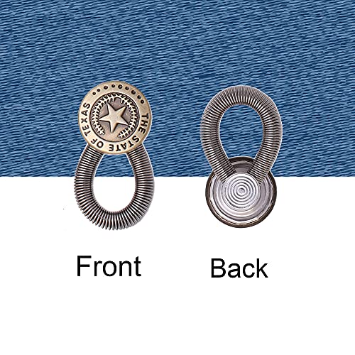 8 Pieces Button Waistband Extender for Denim Jeans Trousers Pants Shirts Collars Elastic Spring Stainless Steel Button, Style 2