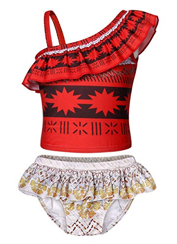 HenzWorld Moana Costume Swimsuit Girls Princess Holiday Birthday Party Cosplay Bathing Clothes -