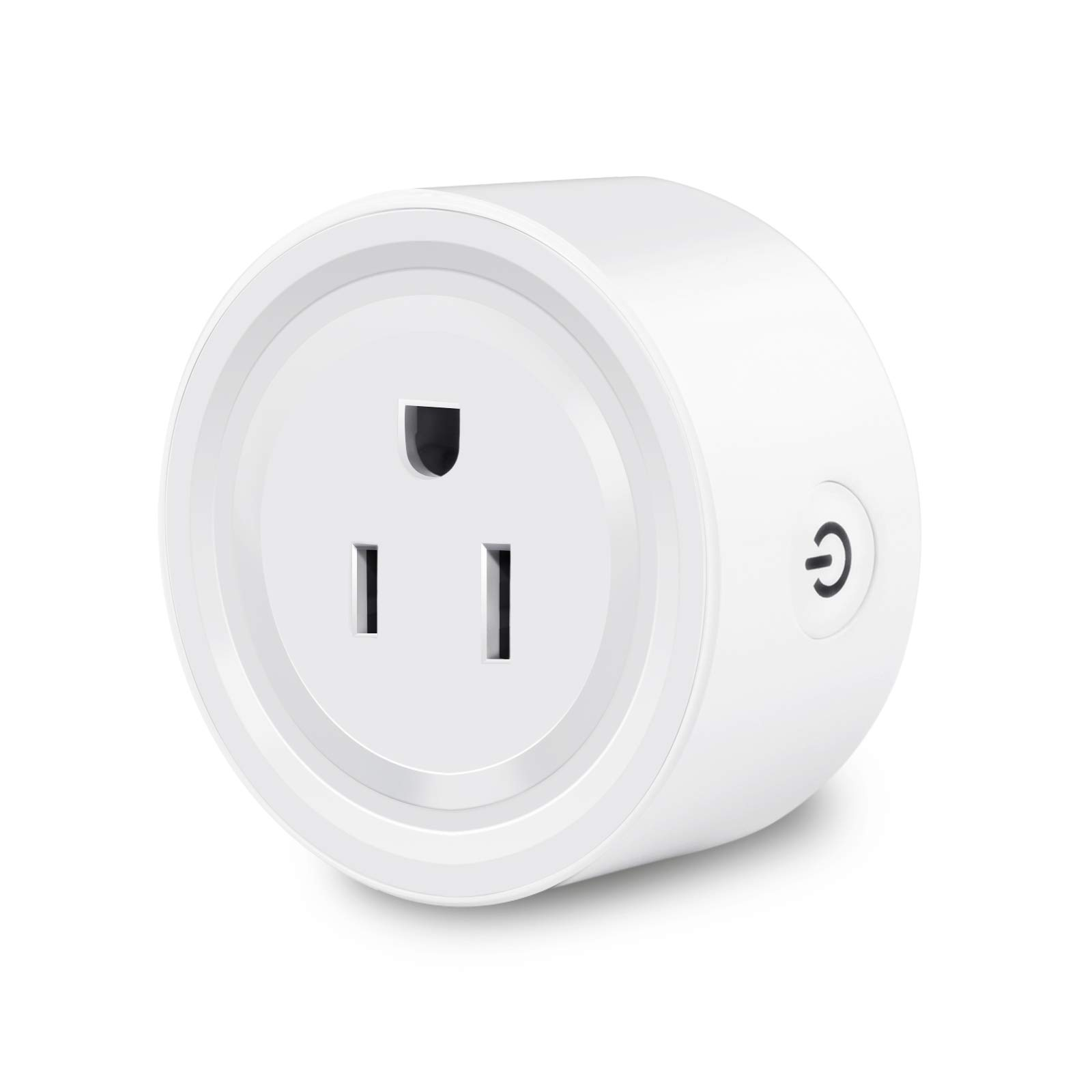WiFi Smart Plug Socket Outlet Plug MINI That Work with Alexa Wireless Plug Outlet for Smart Home Compatible with Echo IFTTT Google Assistant with Timer Smartlife App Remote Control No Hub Required