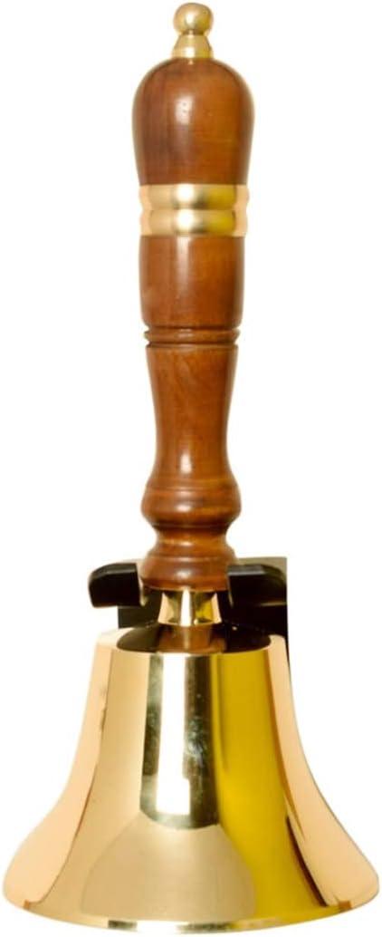 ARSUK School Bells en plata y lat/ón brillante cristal y producto pesado para uso a largo plazo Handbell: 4