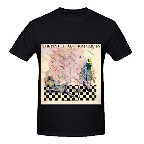 kim-carnes-the-best-of-you-pop-album-cover-men-crew-neck-short-sleeve-shirt-black