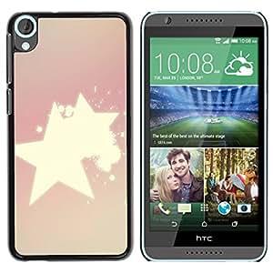 MOBMART Carcasa Funda Case Cover Armor Shell PARA HTC Desire 820 - Radiance Of Shinning Stars