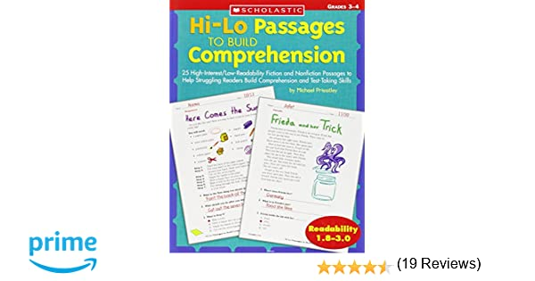 Workbook free high school reading comprehension worksheets : Amazon.com: Hi-Lo Passages To Build Reading Comprehension Skills ...