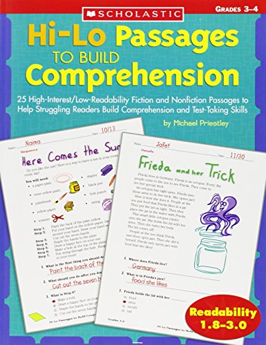 Hi-Lo Passages To Build Reading Comprehension Skills: Grades 3-4 (Hi-Lo Passages To Build Comprehension)