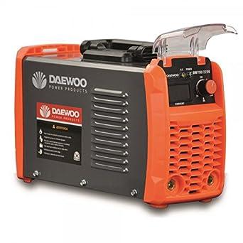 Daewoo 0005875 Soldadora Inverter, 390 mm x 225 mm x 265 mm, 20-180 A, 5000 W: Amazon.es: Industria, empresas y ciencia