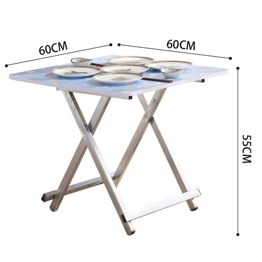 GSHWJS fällbart bord hemma matbord enkelt 4 personer matbord bärbart fyrkantigt lågt bord utomhus bord (färg: D) c