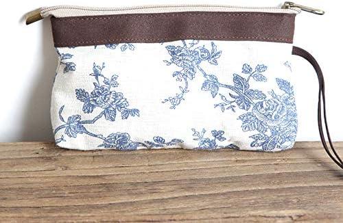 ZSBBshop Bolso Bolsa de algodón y Lino, un pequeño Lienzo Fresco, un Bolso, una Bolsa de cosméticos y un teléfono de Bolsillo. 6 Azul Porcelana Azul y Blanca: Amazon.es: Deportes y aire