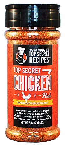Todd Wilbur's Top Secret Chicken Rub Seasoning, 5.8 oz (Best Kosher Restaurants Boston)