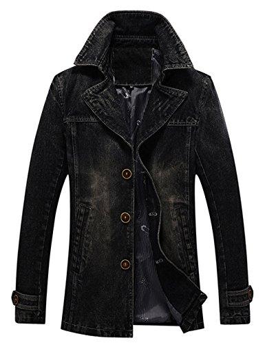 Ripped Tempo Giacchetta Jacket Uomo Giacca Jeans Menschwear Nero Di Libero Denim U5Sqgxw