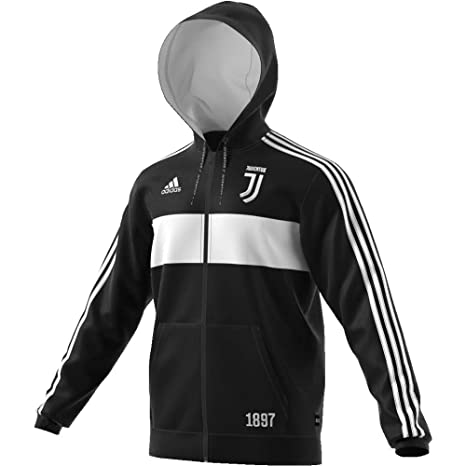Dettagli su Adidas Felpa Uomo Juventus Ufficiale Pre Campionato 2019 Nero Bianco