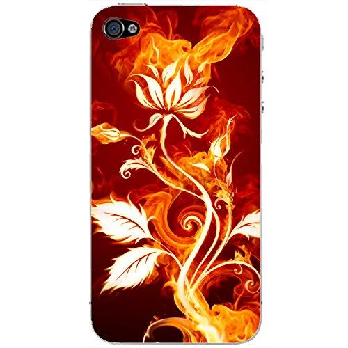 Coque Apple Iphone 5-5s-SE - Rose en flamme