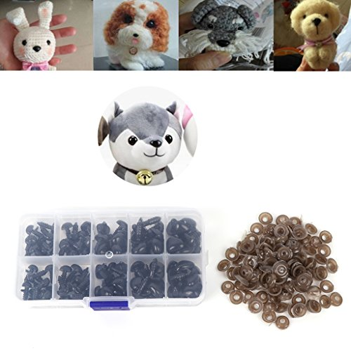 Hacloser 100Pcs/set Plastic Doll Nose, Safety Triangle Nose for Crafts Plush Doll Toys Stuffed Animals Accessories Making DIY - Making Stuffed Dolls
