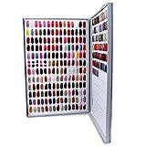 Nail Color Chart Display, Nail Gel Polish Display Nail Practice Design Board, Nail Swatch Book Display Nail Art for Nail Salons, DIY Nail Art at Home(308 Colors)
