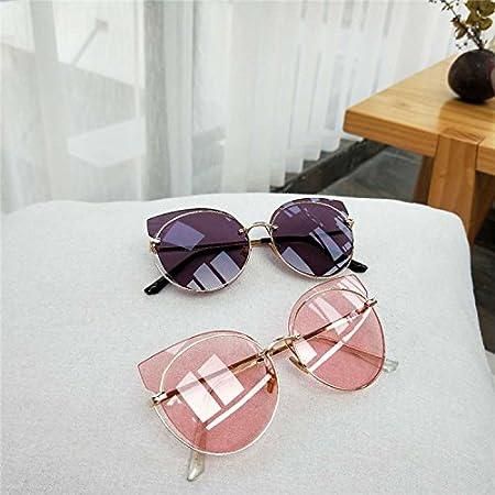 Sunyan Personnalité féminine miroir translucide Lunettes grand châssis circulaire lady lunettes lunettes rondes trendsetter,poudre transparente