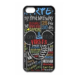 iphone5c case,iphone5c Cell phone case Black Mikey Mouse-PUU4886224